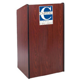 Wide Body Customizable Logo Lectern , M16325