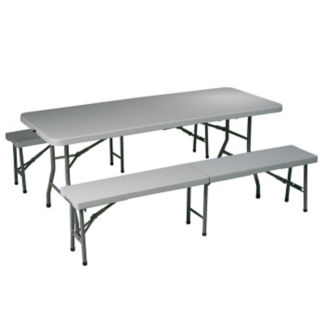 Folding Table and Bench Set, T11554