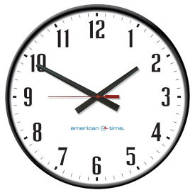 "Wall Clock with Battery Booster - 24"", V22069"