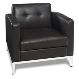 Faux Leather Modern Guest Chair, W60433