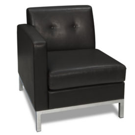 Faux Leather Left Single Arm Chair, W60515