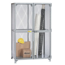 "Metal Mesh Storage Locker - 48""W x 30""D x 72""H, B30275"