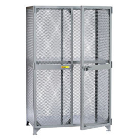 "Metal Mesh One Shelf Storage Locker - 60""W x 36""D x 72""H, B30285"