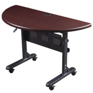 Half-Round Mobile Flipper Table, T11239