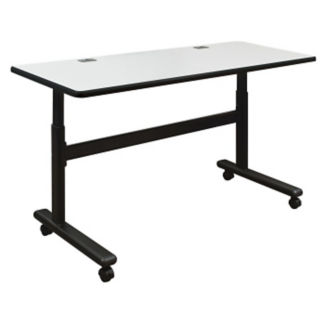 "Height Adjustable Sit or Stand Mobile Flipper Table 60"" x 24"", A11141-1"