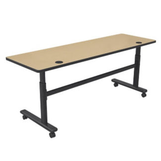 "Height Adjustable Sit or Stand Mobile Flipper Table 72"" x 24"", A11142-1"