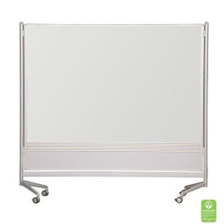 Two Sided Mobile Board -  4'W x 6'H, B20468