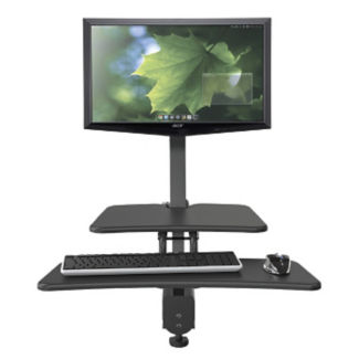 Single Monitor Adjustable Height Station, E10245