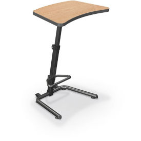 "Adjustable Height Desk with Footrest - 20""D x 26-1/2""W, J10081"