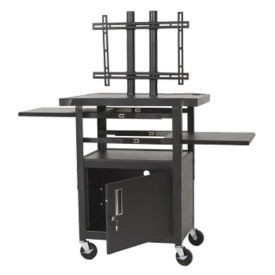 Adjustable Height Flat Panel TV Cart, M13044