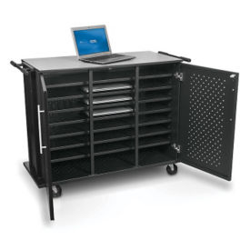 "24 Slot Laptop Tablet Charging Cart - 40""H, M16327"