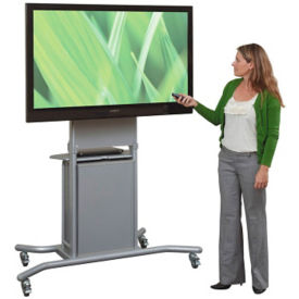 "Mobile Mounting TV Cart with Cabinet - 72""H, M16330"
