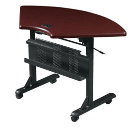 Quarter-Round Mobile Flipper Table, T11343