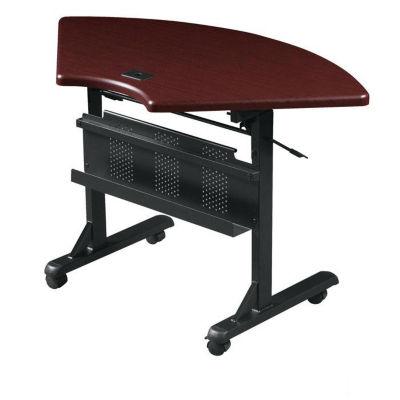 Compare Quarter Round Mobile Flipper Table, T11343