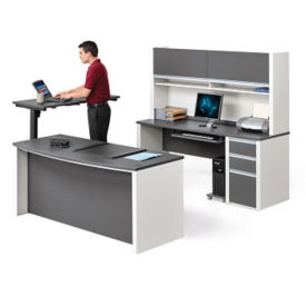 Executive Office Suite with Adjustable Height Table, A11212
