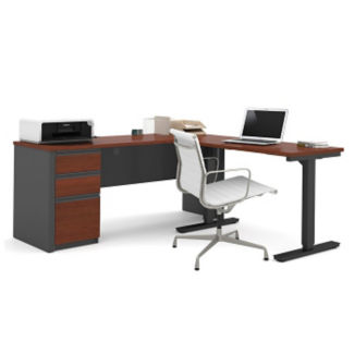 "L-Desk with Reversible Adjustable Height Return - 71.125""W, D35714"