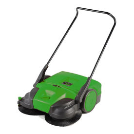 "Deluxe Turbo Walk-Behind Battery-Powered Sweeper - 31""W, V22131"