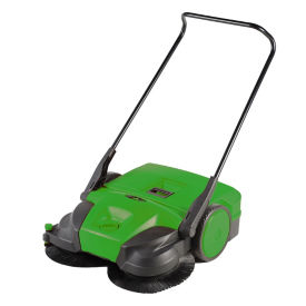 "Deluxe Turbo Walk-Behind Battery-Powered Sweeper - 38""W, V22132"