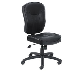Bonded Leather Armless Task Chair, C80317