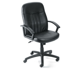 Bonded Leather Mid-Back Computer Chair, C80212