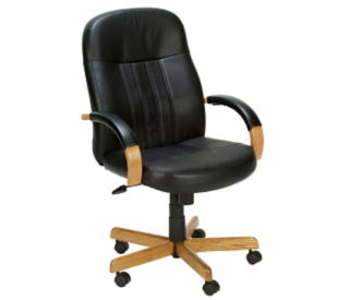 Bonded Leather Hardwood Frame Computer Chair, C80194