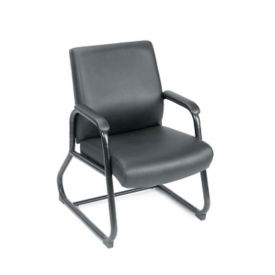 Big and Tall Guest Chair in Vinyl - 350 lb Capacity, C80486