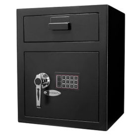 "Large Keypad Depository Safe - 15.33""W x 13.5""D, B30544"