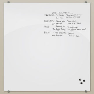 Glass Dry Erase Board 4' x 3', B23185