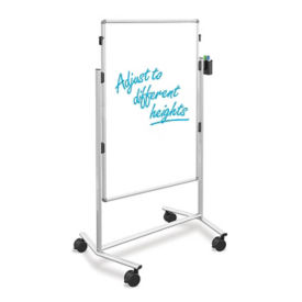 "Two Sided Adjustable Height Mobile Markerboard - 52"" - 69"", B23258"