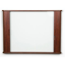 Tambour Door Cabinet With White Board, B20919
