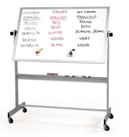 "Porcelain Reversible White/White Board 30""x40"", B20940"