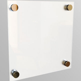 "Non-Magnetic Glass Dry Erase Board 12"" x 12"", B21129"