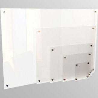 "Non-Magnetic Glass Dry Erase Board 48"" x 72"", B21133"