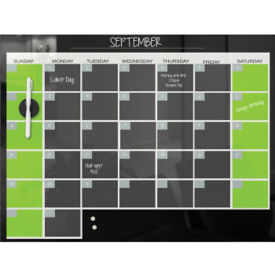 "Monthly Glass Calendar Board 18"" x 24"" , B23467"