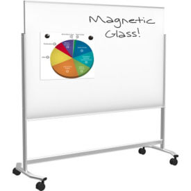 "Mobile Magnetic Glass Whiteboard 6"" x 4"", B23470"