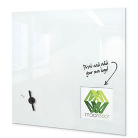 "Customizable Glass Whiteboard-30""H x 30""W, B23472"