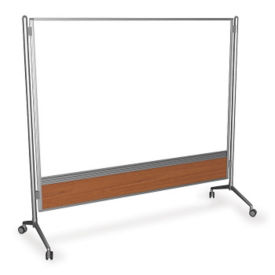 "Double Sided Glass Mobile Markerboard - 72"" x 77"", B23253"