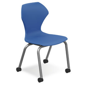 "Polypropylene 18"" H Stack Chair with Casters, C60210"