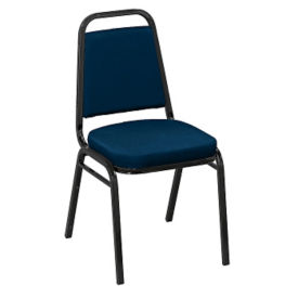 "KFI Basix Square-Back Stack Chair with 2"" Vinyl Seat, C67777"