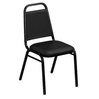 "Square-Back Stack Chair with 1 1/2"" Fabric Seat, C67779"