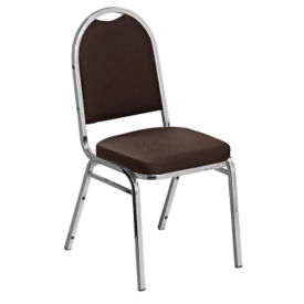 "Round-Back Stack Chair with 2"" Vinyl Seat, C67785"