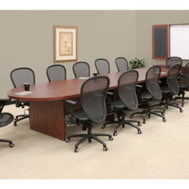 Oval Conference Table - 4.3'D x 16'W, C90095
