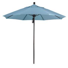 Sunbrella 9'W Pulley Lift Umbrella with Aluminum Pole, F10315