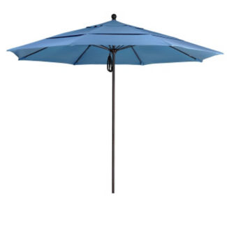 Sunbrella 11'W Pulley Lift Umbrella with Aluminum Pole, F10316