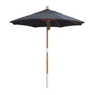 Sunbrella 7.5'W Pulley Lift Umbrella with Wood Pole, F10319