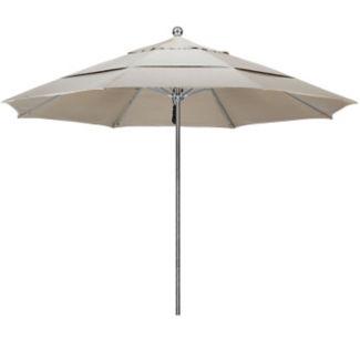 Sunbrella 11'W Pulley Lift Umbrella with Steel Pole, F10322