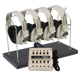 Multimedia Stereo Listening Center for 4 with Headphone Rack, M10247