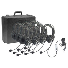USB Headphones with Unidirectional Microphone 10 Pack, M10262