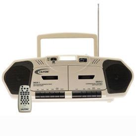 Music Maker Plus Double Cassette Audio Player, M16206