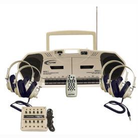 Music Maker Double Cassette Listening Center 4 Person, M16207